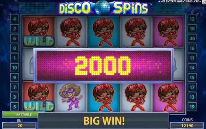 Play Disco Spins slot at Rizk casino