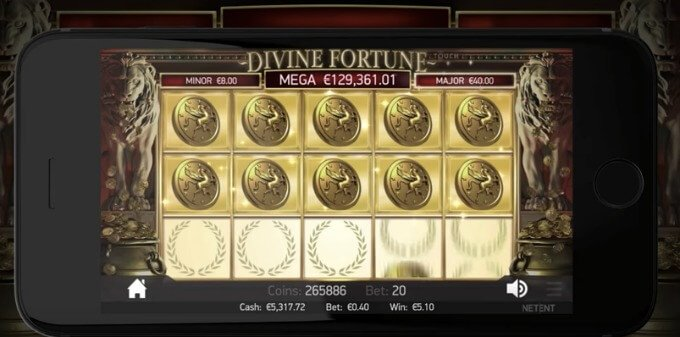 Play Divine Fortune slot at Rizk casino