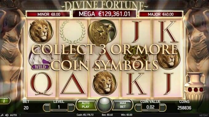 Play Divine Fortune slot at LeoVegas casino