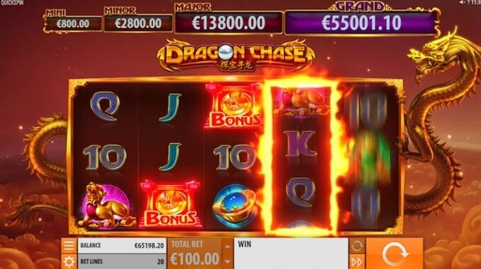 Dragon Chase slot jackpot