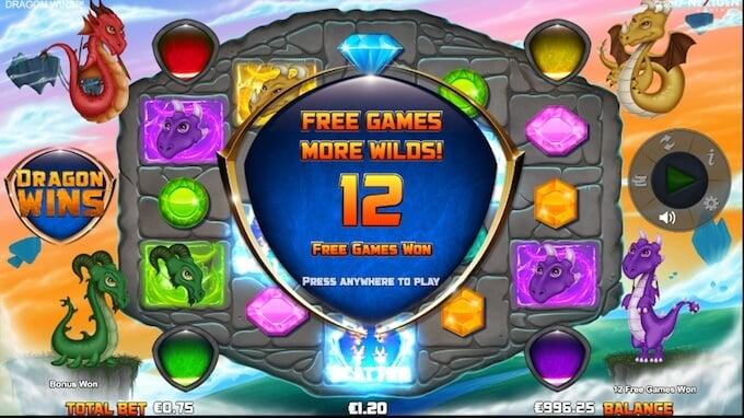 Dragon Wins free spins