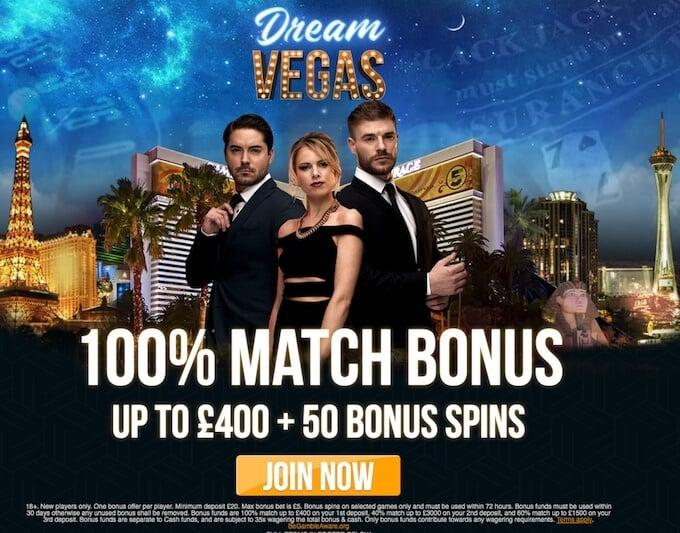 Dream Vegas welcome bonus UK