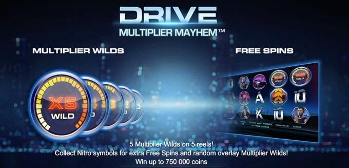 Play Drive: Multiplier Mayhem slot at Mr Green casino