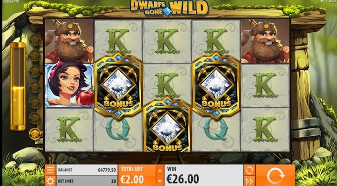 Dwarves Gone Wild free spins