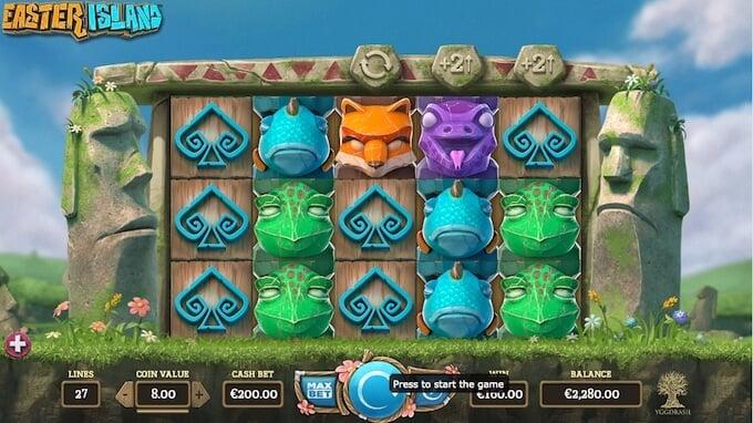 Easter Island slot base game