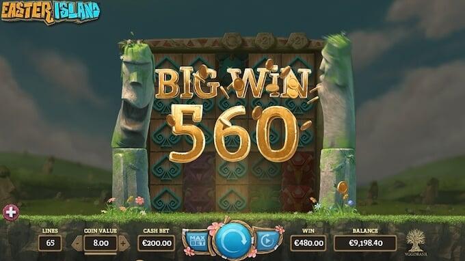 Easter Island slot_big win
