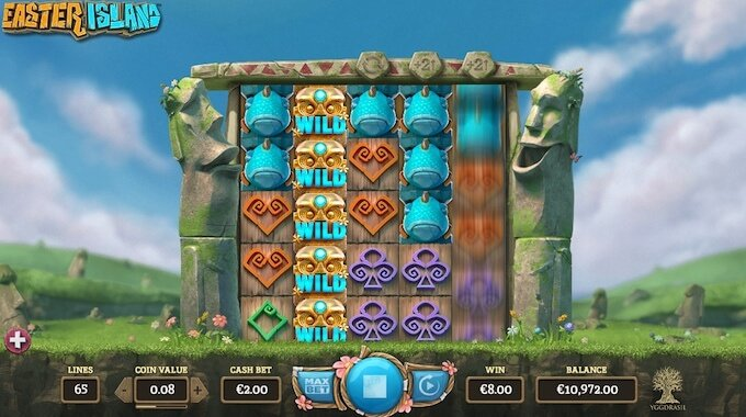 Easter Island slot_Expanding Reels