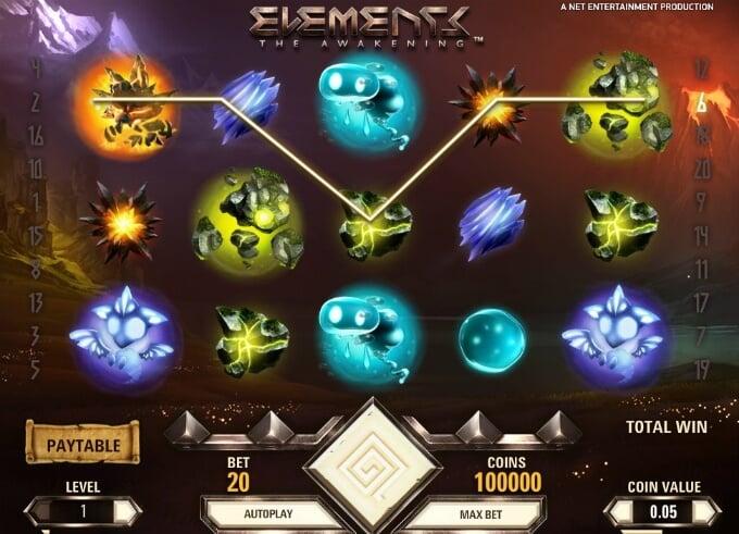 Play Elements: The Awakening slot at Dunder Casino