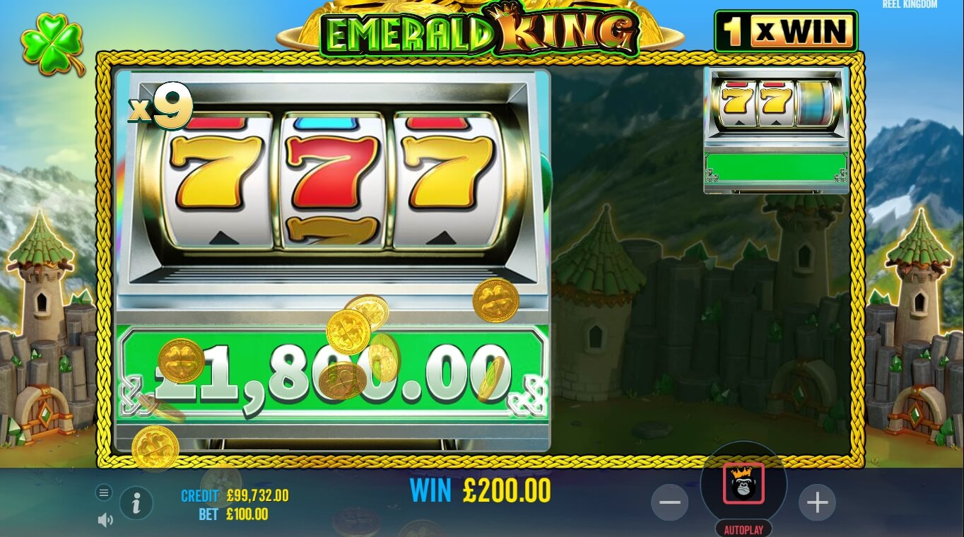 Emerald King slot free spins