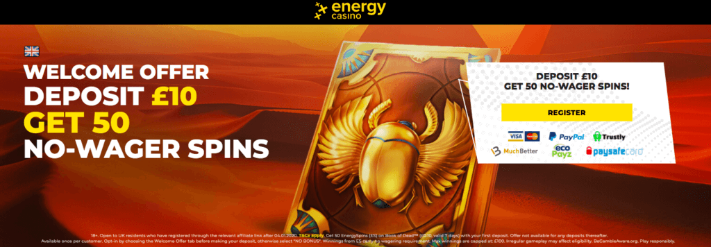 energy casino free spins no wagering requirements