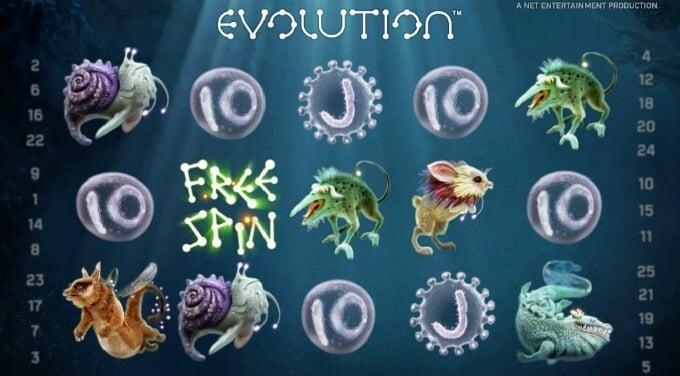 Play Evolution slot at ComeOn casino