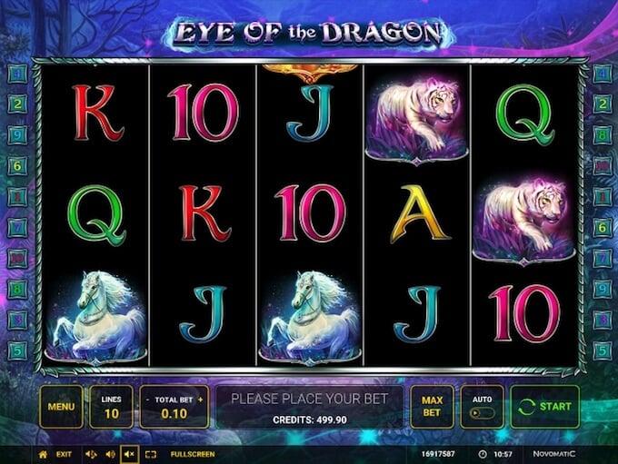 Eye of the Dragon slot by Novomatic