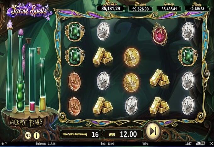 Fairie Spells slot bonus