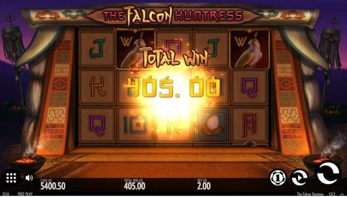 Falcon Huntress slot big win!