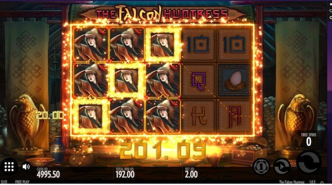 Falcon Huntress slot Expanding Wins!