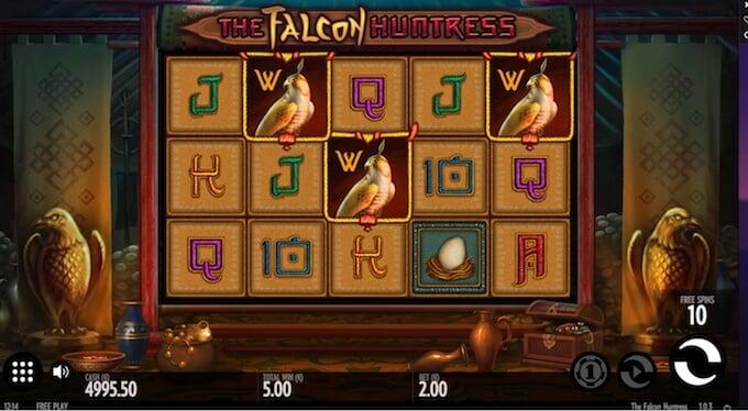 Falcon Huntress slot free spins