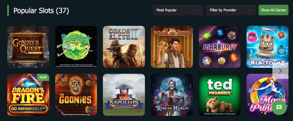 Fansbet Casino Games