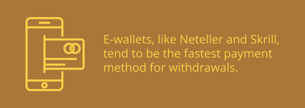 ewallets are fastest casino payment method