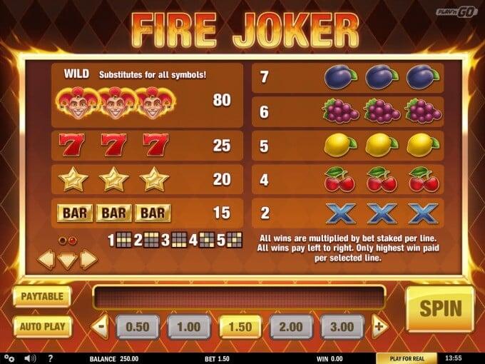 Play Fire Joker slot at InstaCasino