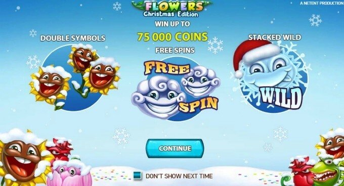 Play Flowers Christmas Edition slot at Mr Green casino