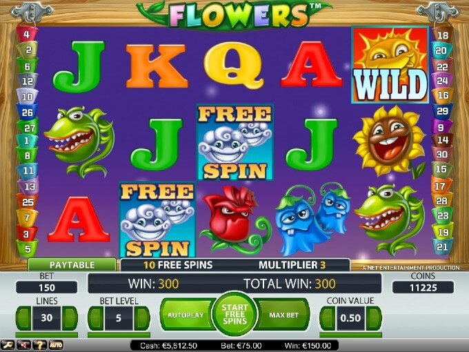Play Flowers slot at LeoVegas casino