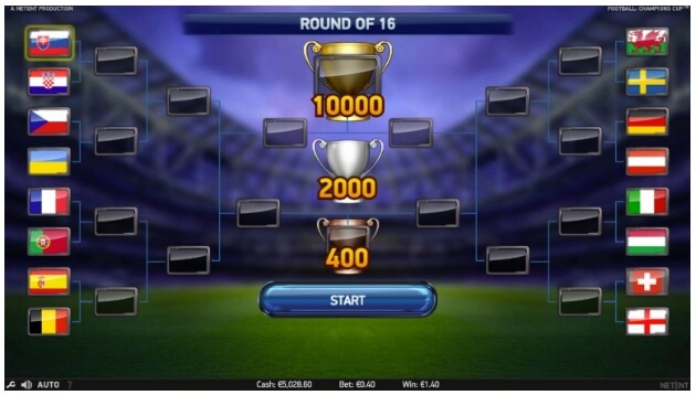 Play Football: Champions Cup slot on Casumo casino