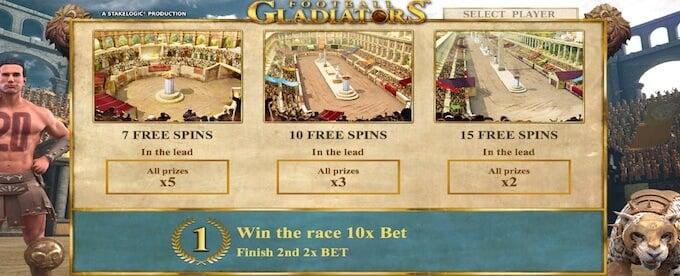Football Gladiators free spins on Unibet casino