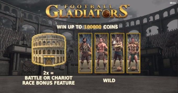 Football Gladiators slot - play now on Unibet casino