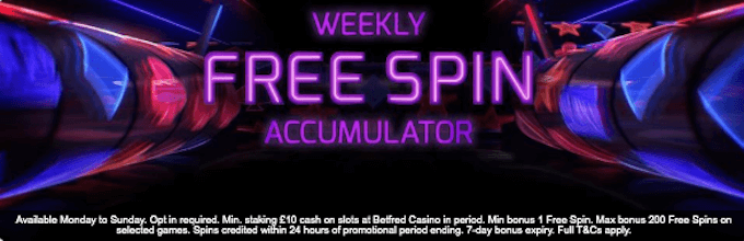 betfred existing player spins