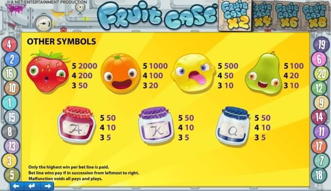 Play Fruit Case slot at Mr Green Casino