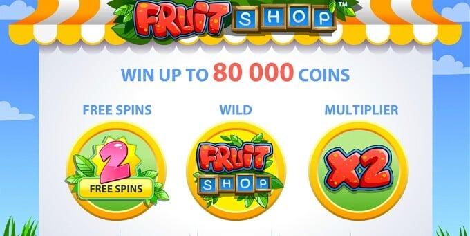 Play Fruit Shop slot at LeoVegas casino