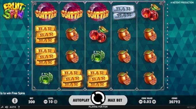 Fruit Spin slot reels