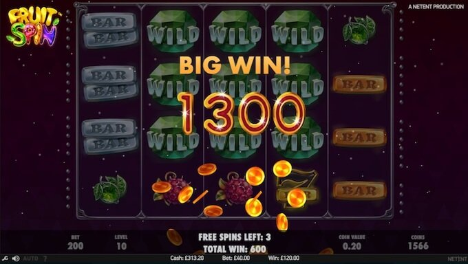 Fruit Spin slot big win!