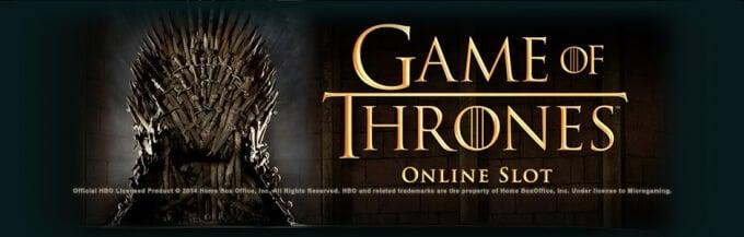 Play Game of Thrones slot on Unibet casino