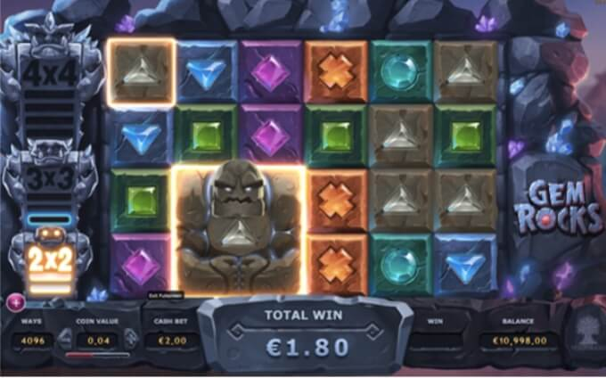 Gem Rocks slot - bonus feature