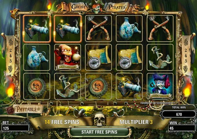 Play Ghost Pirates slot at LeoVegas casino