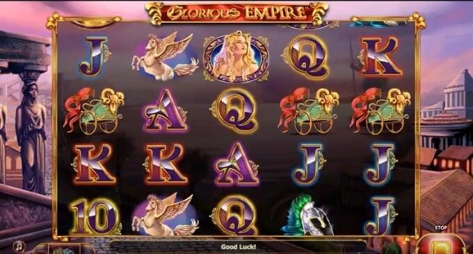 Play Glorious Empire slot at Mr Green casino