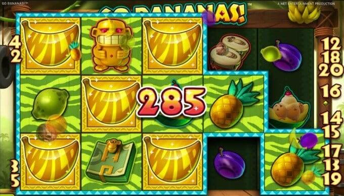 Play Go Banans slot at Mr Green Casino