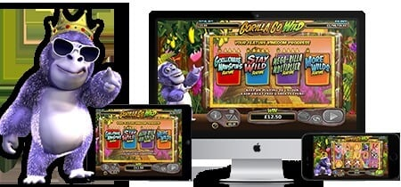 Play Gorilla Go Wild slot on Betsafe casino