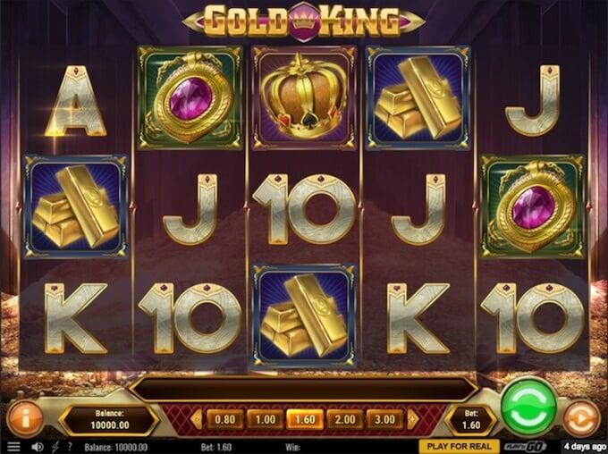 Gold King slot base game