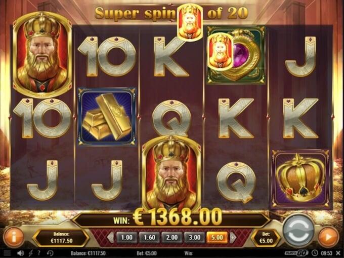 Gold King slot Super Spins