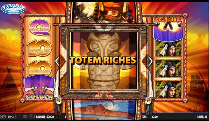 Totem Riches bonus game