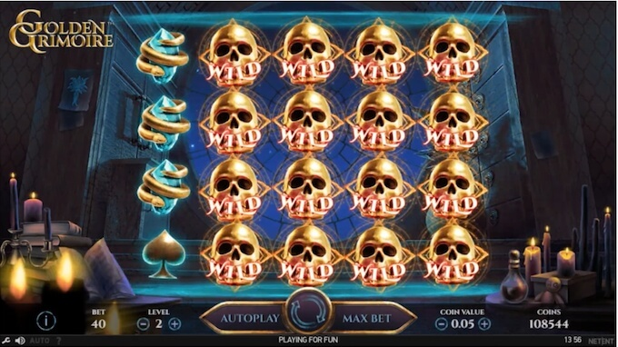 Golden Grimoire slot mystery symbol