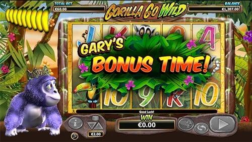 Play Gorilla Go Wild and get welcome bonus on Mr Green casino
