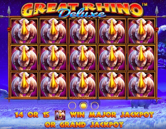 Great Rhino Deluxe jackpot