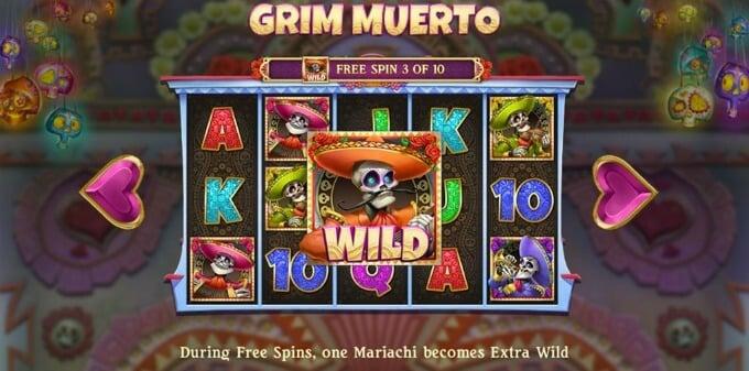 Play Grim Muerto slot at Betsafe casino
