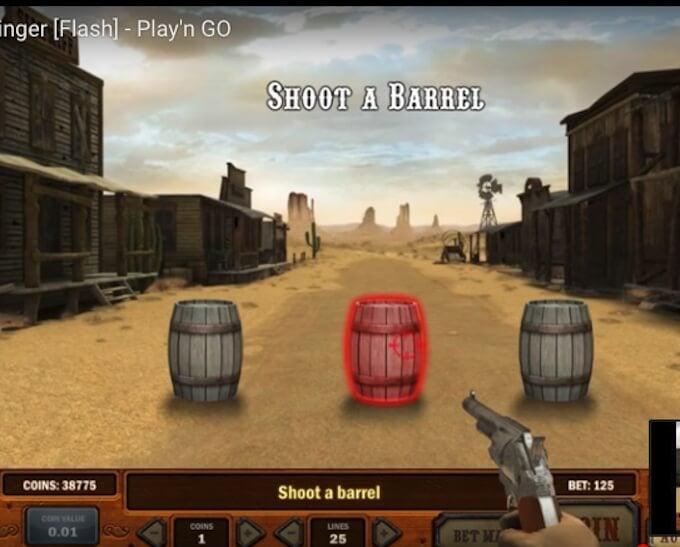 Gunslinger: Reloaded slot mini game