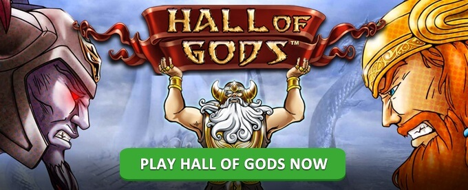 Play Hall of Gods slot on SuperLenny casino