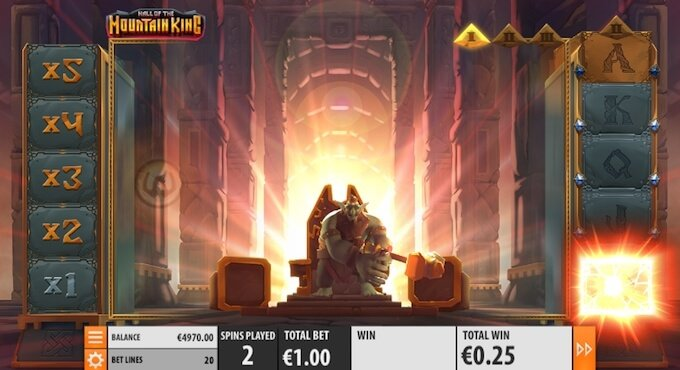 Hall of the Mountain King slot free spins