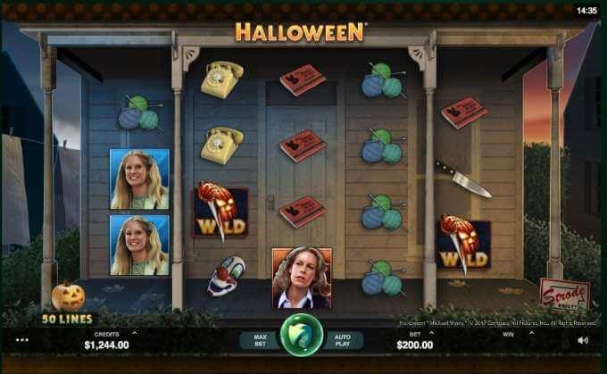 Halloween slot reels
